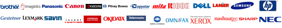 Copier Lease Orange County - Supported Brands